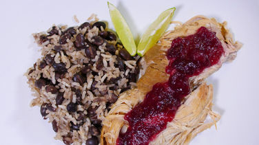 Slow-Cooker Lechón with Cranberry Sauce