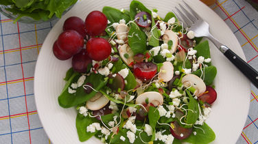 Summer Spinach, Grape and Feta-Cheese Salad