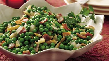 Peas with Bacon and Almonds