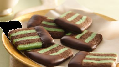 Chocolate-Mint Layered Cookie Slices