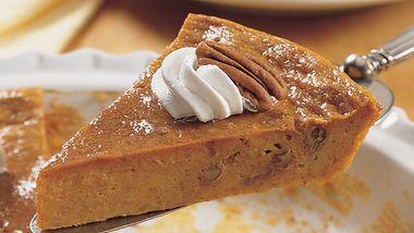 Impossibly Easy Pumpkin-Pecan Pie