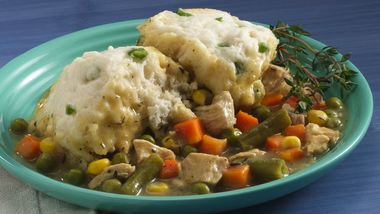Savory Chicken Stew and Dumplings (Cooking for 2)