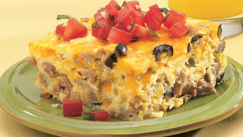 Turkey and Egg Brunch Bake