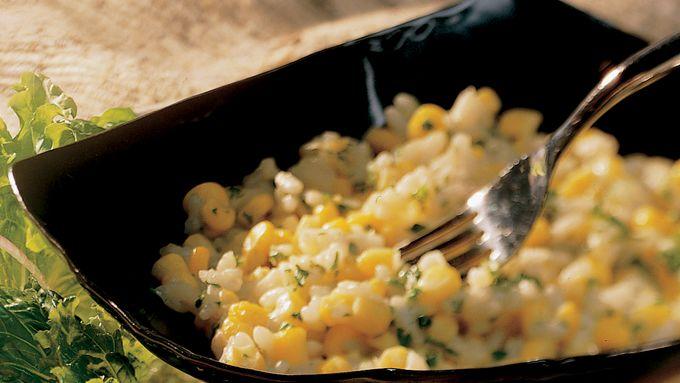 Creamy Corn and Garlic Risotto