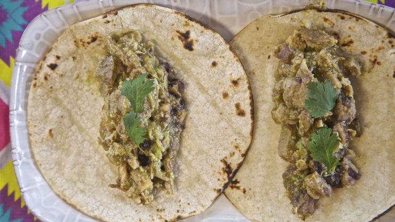 Chile Verde Pork Enchiladas