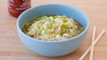 Egg Drop Ramen Soup with Chicken