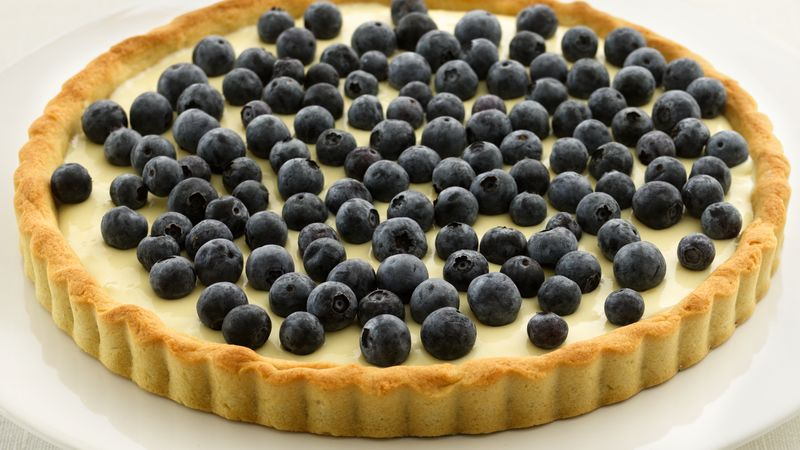 Skinny Blueberry-Lemon Tart