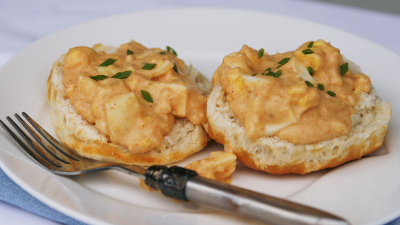 Creamy New England Eggs and Biscuits