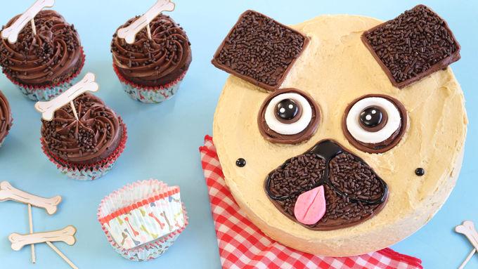 Chocolate-Peanut Butter Pug Cake