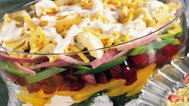 Layered Vegetable Salad