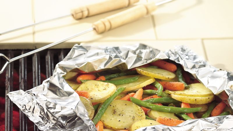 Grilled Garden Vegetable Medley Foil Pack