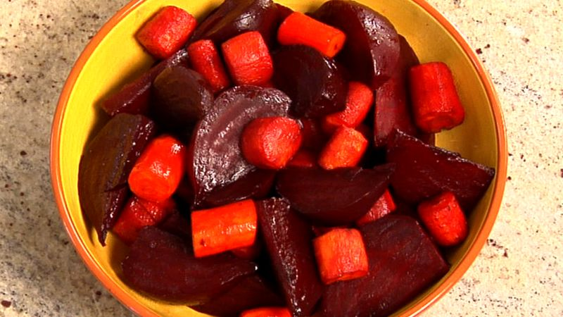 Honey-Balsamic Glazed Roasted Beets & Carrots