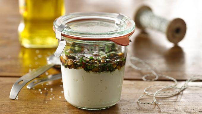 Herbed Yogurt Cheese in a Jar