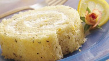 Rosemary-Lemon Cake Roll