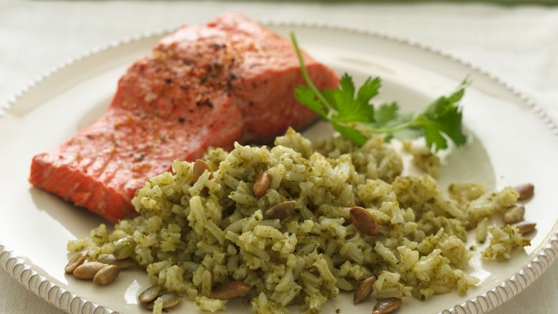 Green Rice with Toasted Pumpkin Seeds