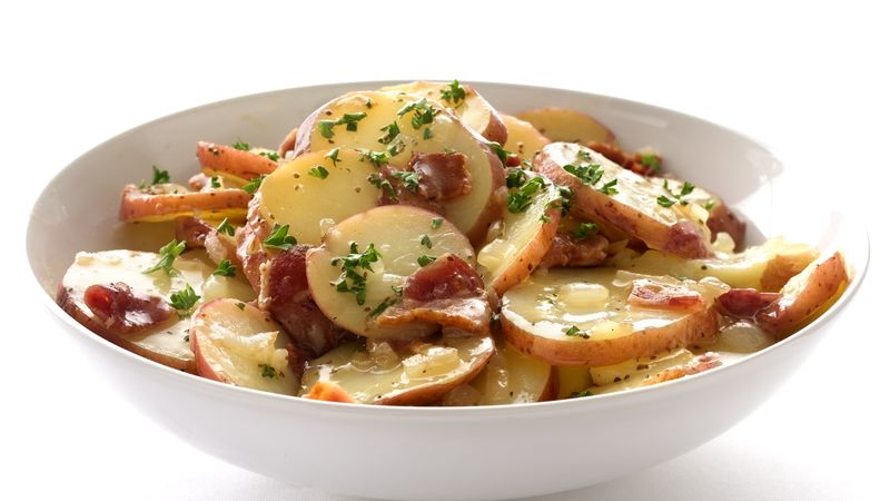Skinny Hot German Potato Salad