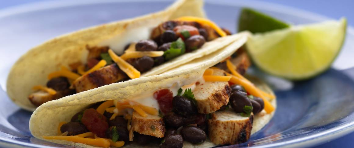 Grilled Chicken Tacos recipe from Betty Crocker