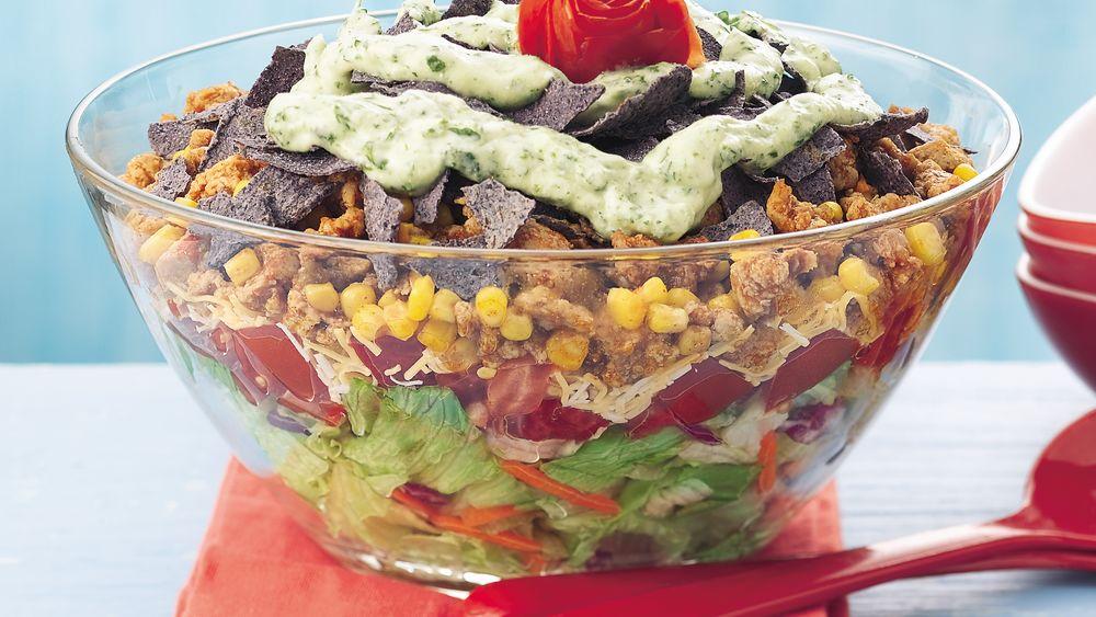 Warm Chicken Taco Salad