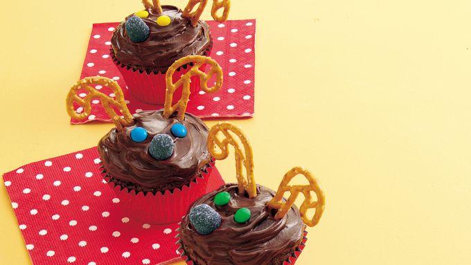 Rudolph Brownie Cupcakes