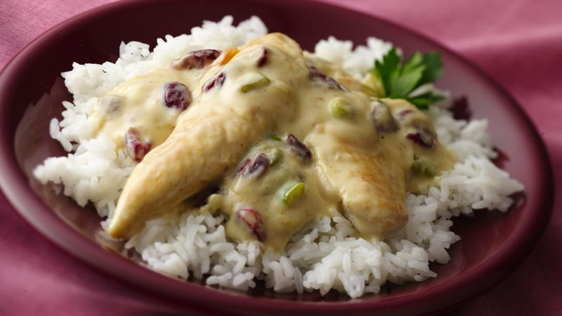 Chicken with Cranberry-Honey Mustard Sauce