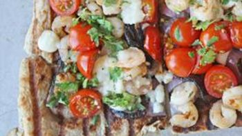 Grilled Shrimp Pizza
