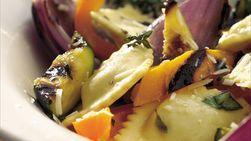 Ravioles con Verduras a las Brasas