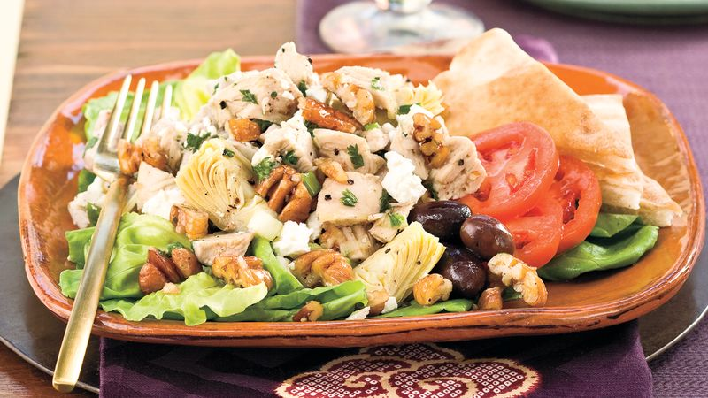 Turkey Artichoke Pecan Salad