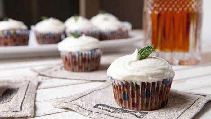 Mint Julep Chocolate Cupcakes