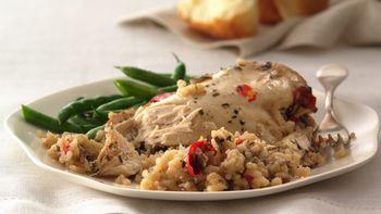 Garlic Chicken with Rice