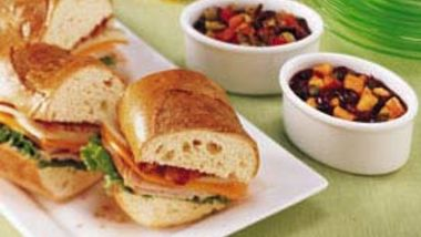 Turkey Subs with Cherry Salsa