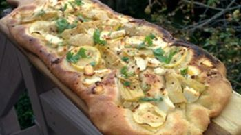Artichoke Flatbread with Garlic and Lemon