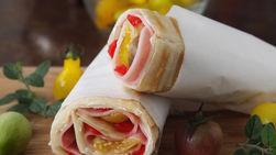 Ham and Cream Cheese Wraps