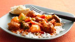 Albóndigas de Carne con Queso y Verduras