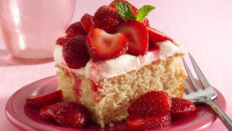Strawberry Shortcake Squares
