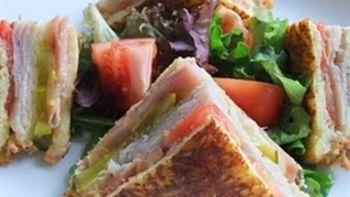 French-Toasted Club Sandwich