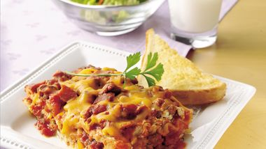 Easy Bacon Cheeseburger Lasagna