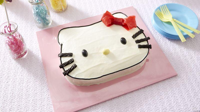 Hello Kitty  Cake recipe from Betty Crocker