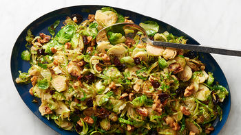 Sautéed Brussels Sprouts with Toasted Walnuts and Dried Cherries