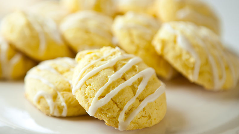 Lemon Yellow Cake Mix Cookies