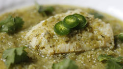Fish in Salsa Verde