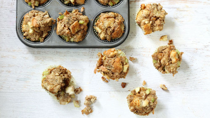 Savory Thanksgiving Stuffing Muffins