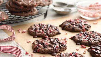 Peppermint Fudge Brownie Cookies