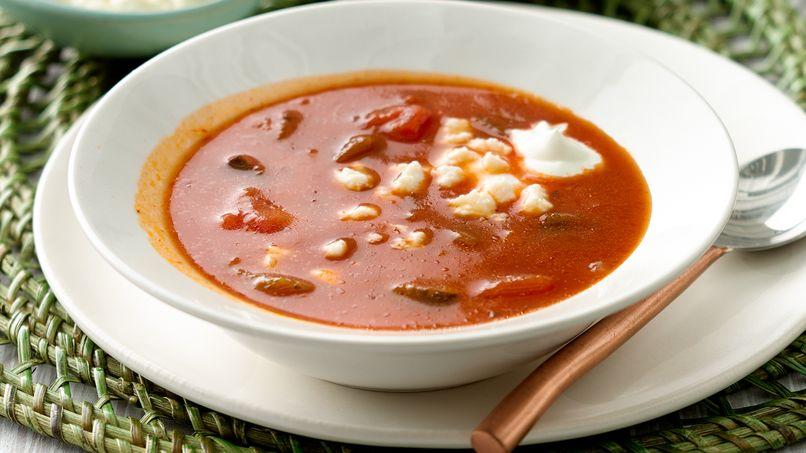 Sopa Deliciosa de Tomate con Chile Poblano