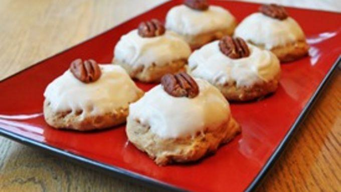 Frosted Brown-Sugar Pecan Cookies