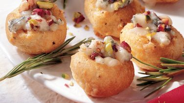 Gorgonzola and Rosemary Cream Puffs