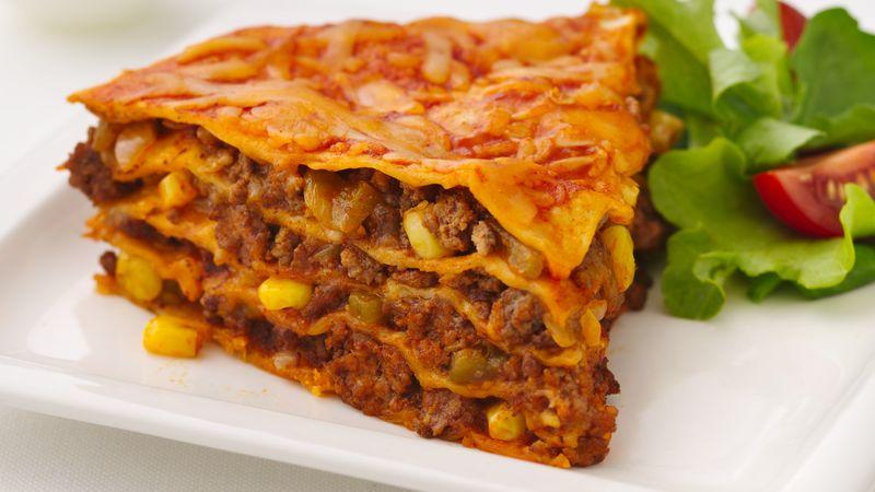 Skinny Beef Enchilada Pie