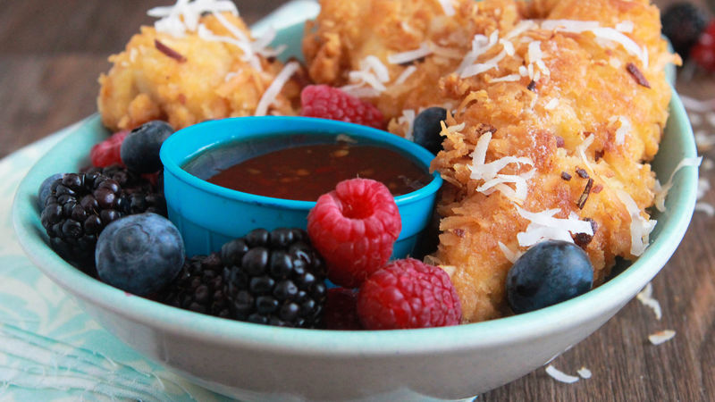 Coconut Chicken Tenders with Sweet Chili Sauce
