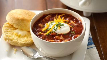 Slow-Cooker Three Bean and Turkey Chili