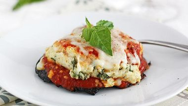 Lasagna-Stuffed Portobello Mushrooms