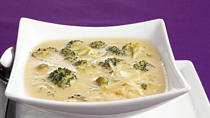 Three-Cheese Broccoli Soup